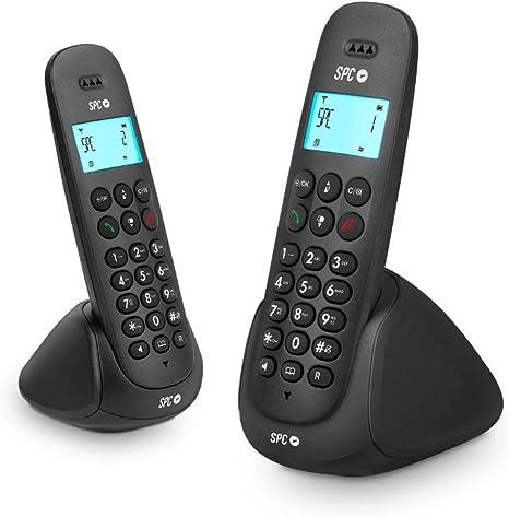 SPC Art Duo pareja de teléfonos inalámbricos con agenda, identificador de llamadas y manos libres: Spc: Amazon.es: Electrónica