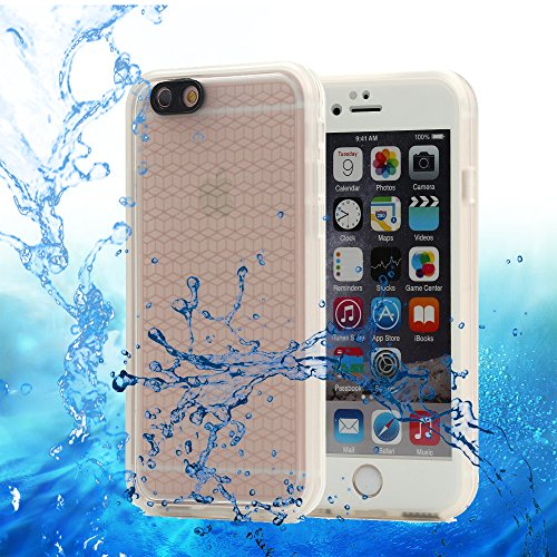 iPhone 6S Plus Waterproof Case, Pandawell™ Super Slim Thin Light 360 All Round Full-Sealed IPX-6 Waterproof Shockproof Dust/Snow Proof Case for iPhone 6 Plus / 6S Plus 5.5 inch (Trade Phone)