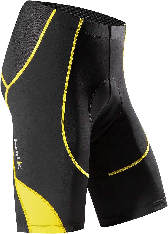 Santic Cycling Shorts Men's Bike Biking Bicycle Pants Tights 4D Coolmax Padded: Clothing