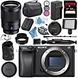 Sony Alpha a6300 Mirrorless Digital Camera (Black) ILCE6300/B + Sony Distagon T FE 35mm f/1.4 ZA Lens SEL35F14Z + NP-FW50 Replacement Lithium Ion Battery + External Rapid Charger Bundle