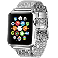 Apple Watch Band,GEOTEL Apple Watch Accessories iWatch Band Strap Milanese Loop Stainless Steel Band with Classic Buckle for Apple Watch Series 2 Series 1,Nike+,Hermes,Sport&Edition(38MM-SILVER)