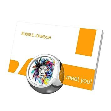 Futuroo Chat Multicolore Pour Cartes De Visite Desk Affichage Carte Mignon Personnalise