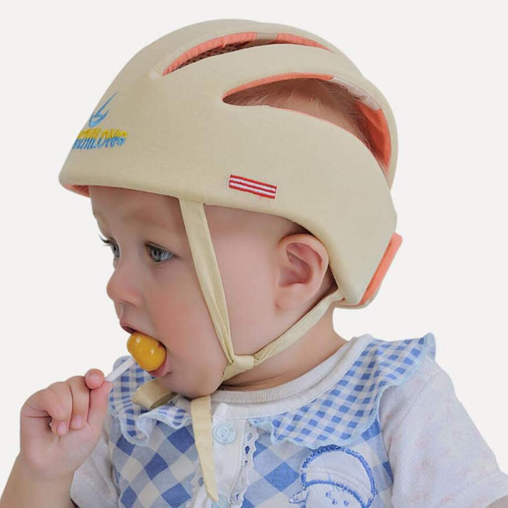 Fenteer Store Per Neonato Di Sicurezza Regolabile Casco Testa Protezione Cappello