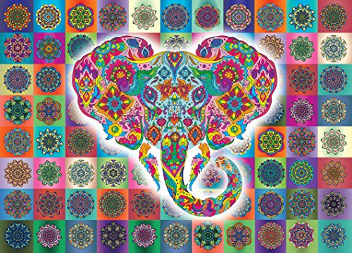 Elephant Mandala Jigsaw Puzzle -1000 piece Jigsaw puzzle