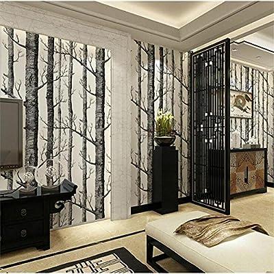 TINE Wall Paper Roll Wall Paper Decoración Abstracto Negro y ...