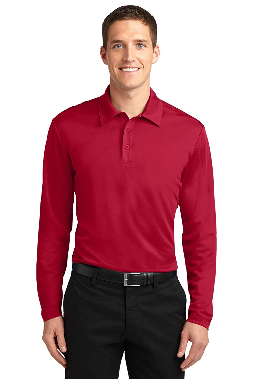 75e0ccec0dea Port Authority Men's Silk Touch Performance Long Sleeve Polo at Amazon Men's  Clothing store:
