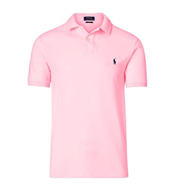 Ralph Lauren Polo Solid Classic FIT Mesh Rose Neuf (S)  Amazon.fr ... 33b2e9f772eb