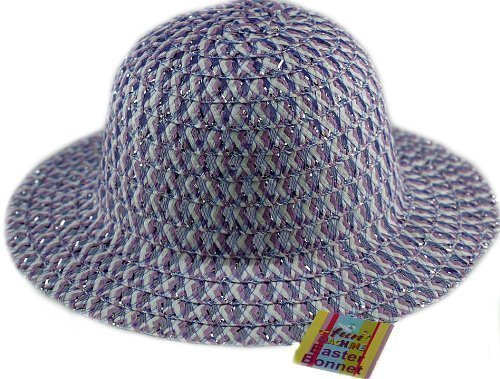 Decorate Easter Bonnet - Dp Little Girls' Dp Easter Bonnet Hat - Ideal To Decorate For School Parade 3 - 6 yrs Lilac/ Silver