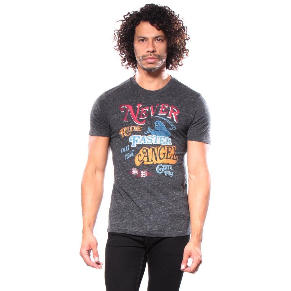 Lucky Brand Men's Faster Angel Graphic Tee, Onyx, X-Large