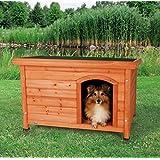 【ドイツTRIXIE】ドイツTRIXIE ドッグハウス屋外用犬小屋!TRIXIE ナチュラドッグケンネル フラットルーフ ブラウン S-M
