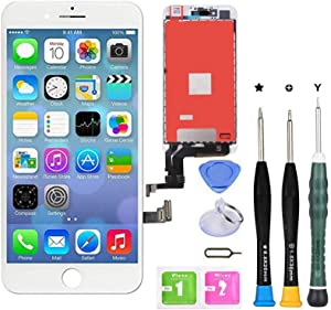 Premium Screen Replacement Compatible with iPhone 7 4.7 inch Full Assembly -LCD Touch Digitizer Display Glass Assembly with Tools, Fit Compatible with iPhone 7 (White)
