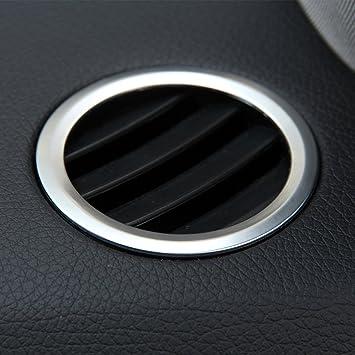 Crabon ABS cromado interior decoración aire acondicionado salida marco accesorios cubierta pegatinas para GLK X204 ML