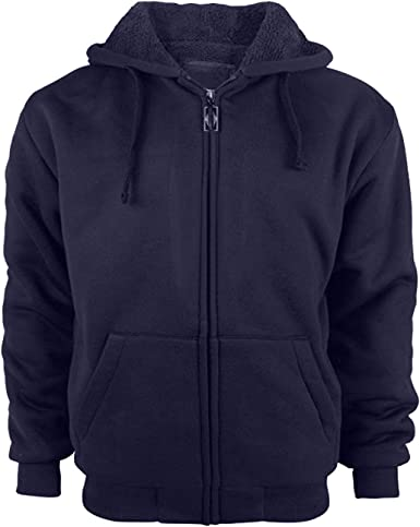 Mens Fleece Hoodie Men Zip Up Soft Sport Hooded Sweatshirt