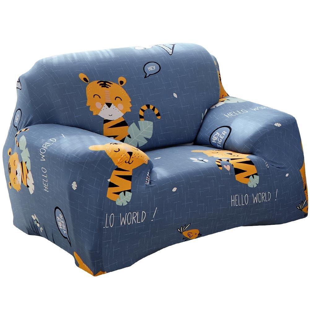 Matefield Elastic Sofa Cover Animal Tight Wrap All-inclusive Slipcovers(Tiger/1-Seat)