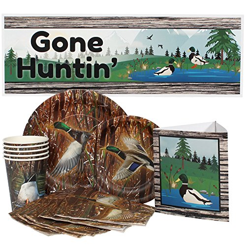Hunting Package - Birthday Direct 68 Piece Duck Hunting Party Package for 16 Guests