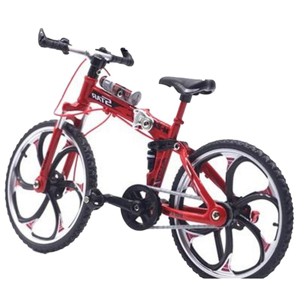 lantusi Alloy Bicycle Model Simulation Mini Bike Toy Ornaments Gift Vehicle Playsets