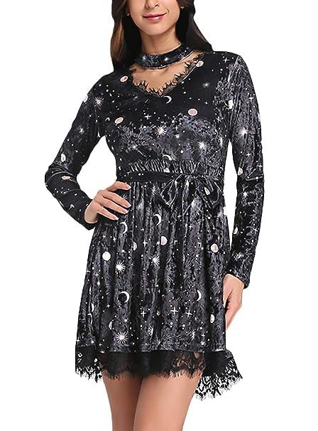 453bdaa9dbc8 Lounayy Vestidos Cortos para Mujer Elegante Vestido Cóctel Verano ...