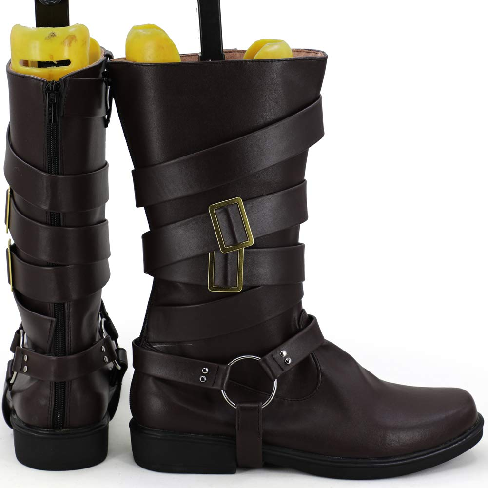 Brown Unisex GOTEDDY Cosplay Boots Costume Shoes