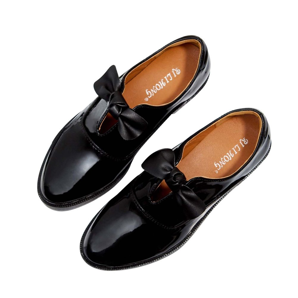 JINANLIPIN Women Bowknot Oxfords Shoes Point Toe Shiny Dress Casual Flat Walking Casual Dress Shoes B07BWDDV6G Western 9a85f7