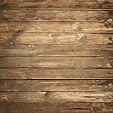 Seamlss Backdrop Brown Wood Photo Backgrounds Wood Wall No Wrinkle Photography Backdrops (10x10ft)