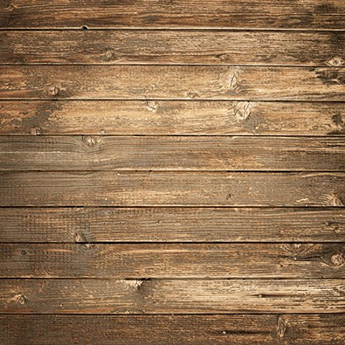 Seamlss Backdrop Brown Wood Photo Backgrounds Wood Wall No Wrinkle Photography Backdrops (10x10ft) by Kate (Image #3)