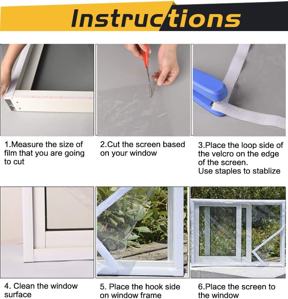 Weatherproof Extra Large and Heavy Duty Patio Door Insulator Kit for Winter 70 x 110 LOOBANI Reusable Door Window Insulation Kit Indoor Outdoor Window Shrink Film Insulator Kit