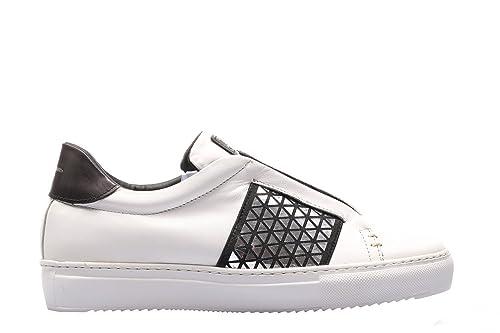 Stau Sneakers Vitello Bianco riporti nero ELIX 635-I17