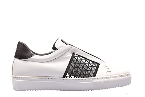 pretty nice 20be7 43328 STAU Sneakers Vitello Bianco riporti Nero ELIX 635-I17-40 ...