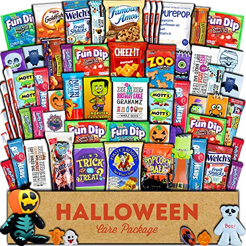 Homemade Halloween Snacks (Halloween Care Package (60ct) Trick or Treat Snacks Cookies Bars Chips Candy Toys Variety Gift Box Pack Assortment Basket Bundle Mixed Bulk Sampler Treats College Students)