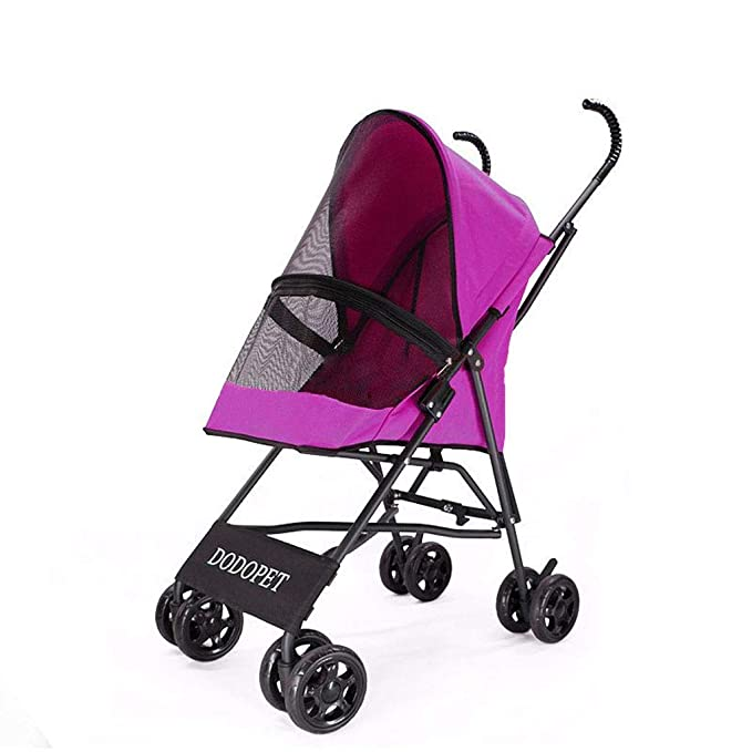 Amazon.com : PLDDY Pet Bag Wheels Travel Stroller Dog Cat Pushchair ...