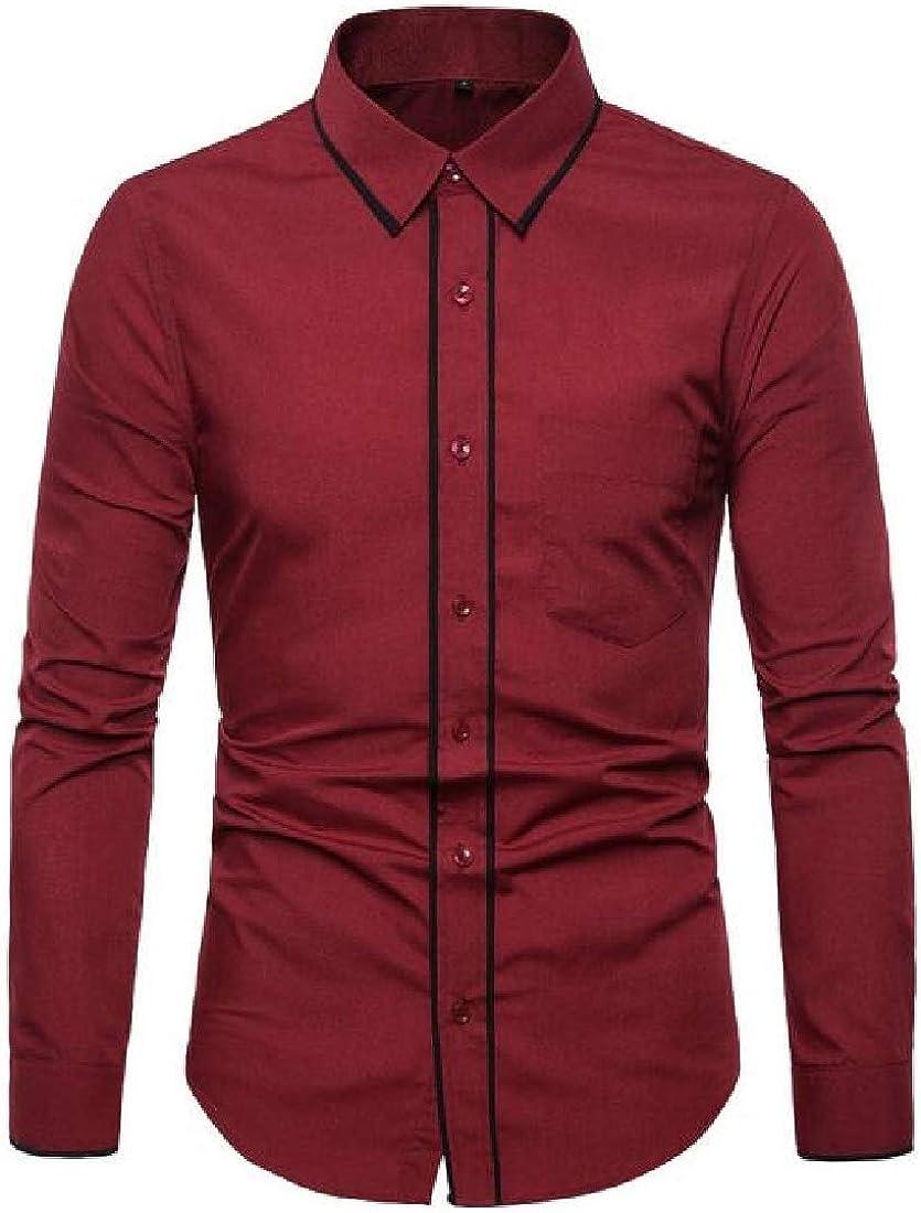 Rrive Mens Shirts Long Sleeve Casual Business Button Up Dress Shirt Top