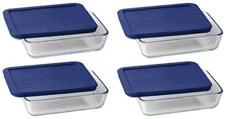 Amazon.com: Pyrex - Bandeja rectangular con tapa de plástico ...