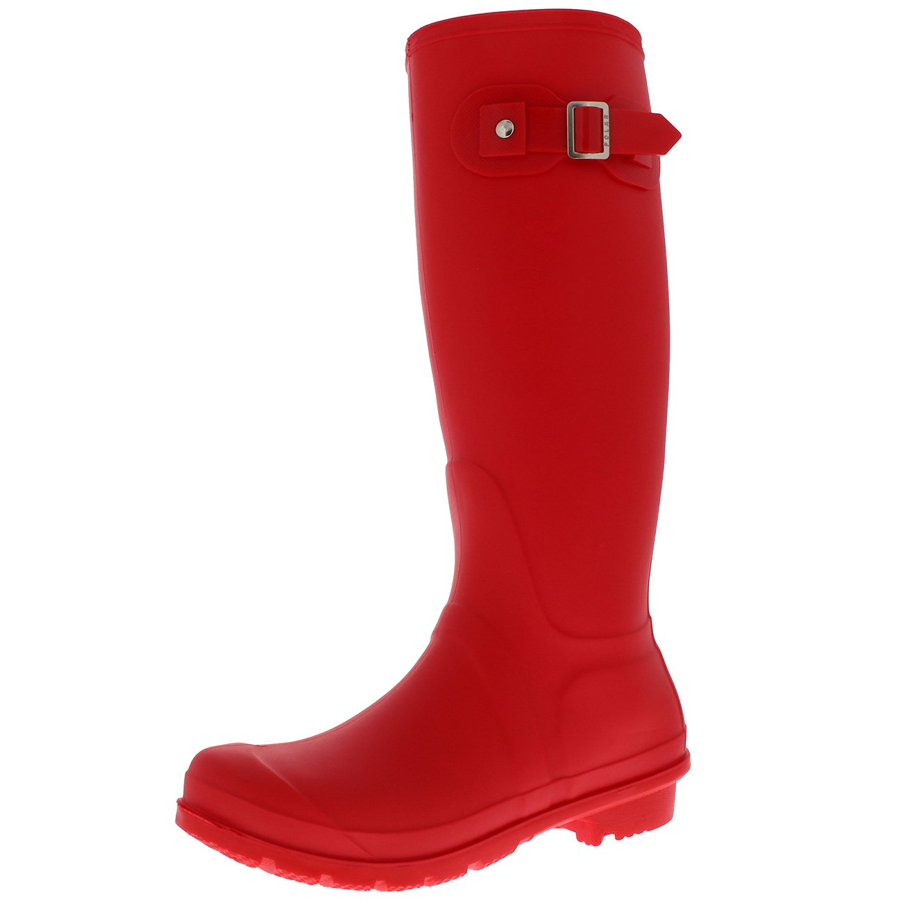 Womens Snow Tall Waterproof Rain Muck Dog Walking Buckle Wellington Boot - Red - US8/EU39 - BL0293
