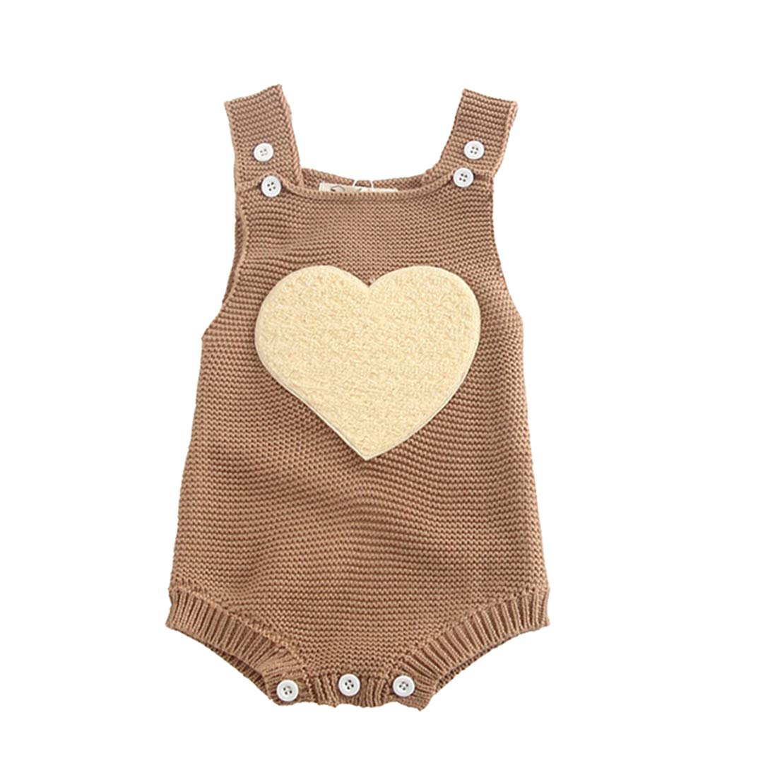 FCQNY Infant Baby Girls Boys Adorable Button-Down Knit Sweater Rompers Jumpsuit