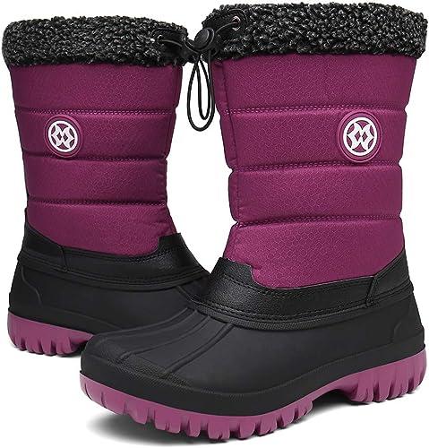 Stivali da Neve Donna, Scarpe Invernali Impermeabili Outdoor con Imbottitura Calda Stivali Scarpe 36 42