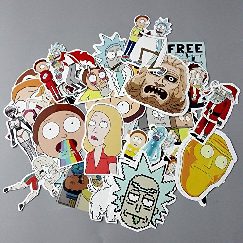 Rick and Morty Decal Stickers Random Assorted Lot of 35 Pieces