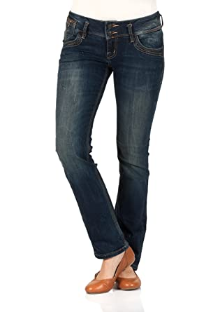 LTB Damen Jeans Jonquil Slim Straight - Blau - Oil Blue Wash  Amazon.de   Bekleidung adfb0881e0
