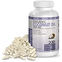 Bronson Organic Coconut Oil 1000 mg Capsules - Healthy Hair Skin Nails & Weight...
