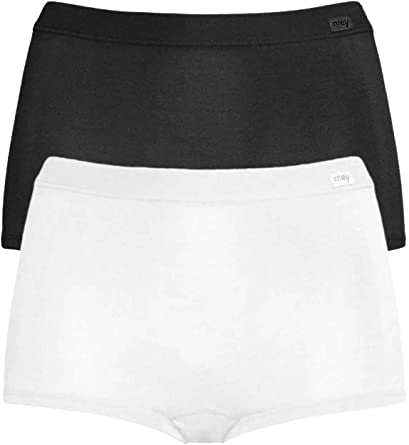 Mey Emotion Panty en Doble Pack Mujer Blanco y Negro 40: Amazon.es ...