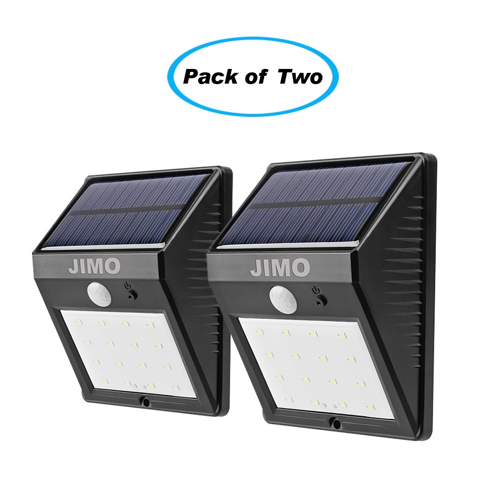 Solar outdoor lights with motion sensor 2 pack super bright 16 led solar outdoor lights with motion sensor 2 pack super bright 16 led by jimo wireless security sensor movement detective dim bright mode waterproof aloadofball Image collections