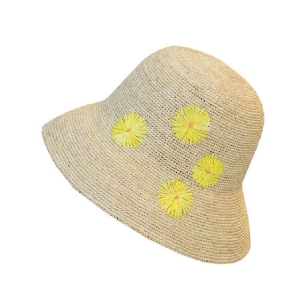 Women Summer Sun Hat Lady Sun Hat Sun Flower Straw Hat Summer Fashion Travel Sunscreen Beach Vacation Party Leisure Wind Beach Hat