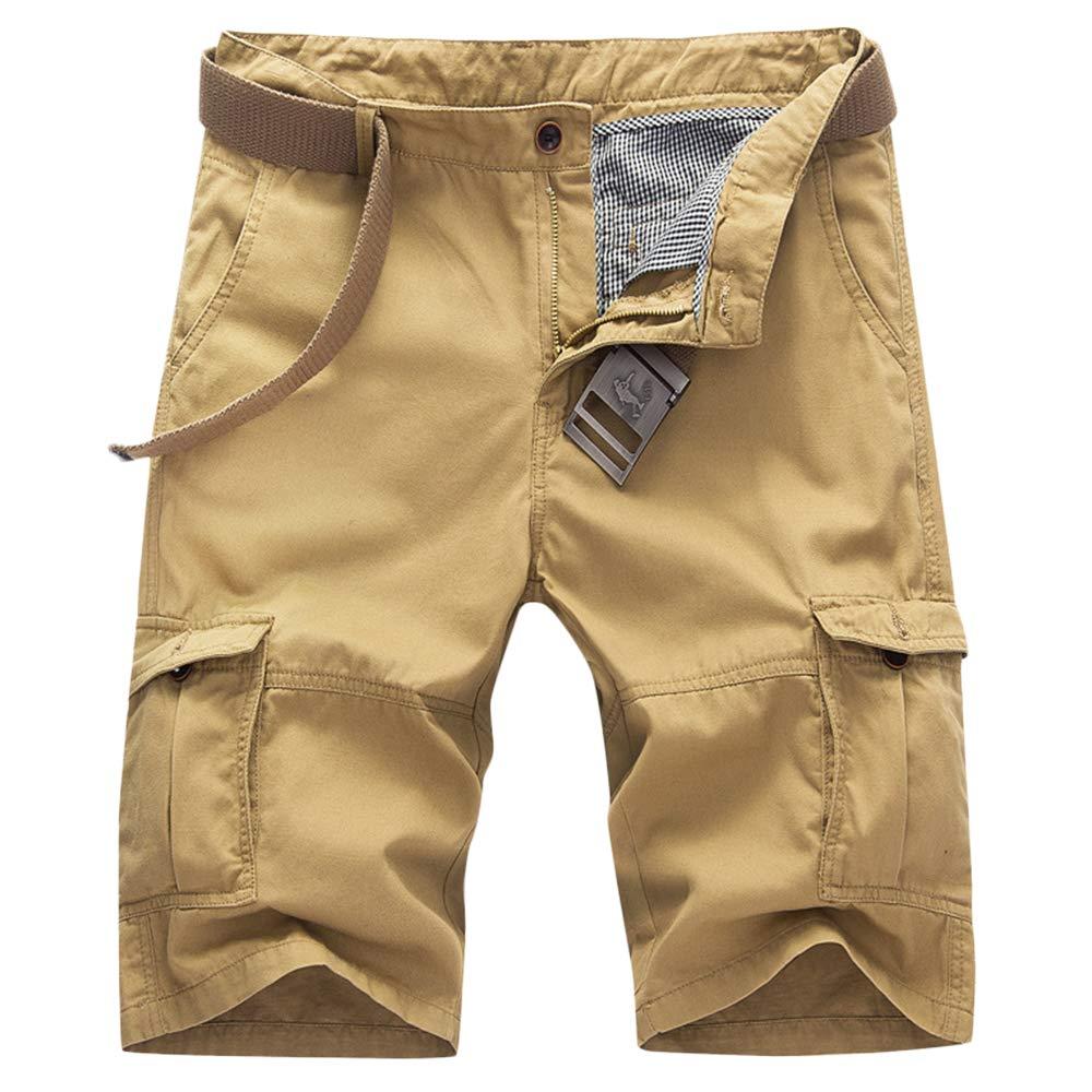 GBRALX Männer Casual Work Cargo Combat Shorts Mehrfach-Shorts für den Außenbereich Strand Surf Vacation Military Style Plain Shorts