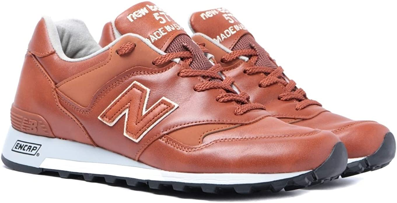 Mutuo Patético tratar con  New Balance Made In England M577 Tan Leather Trainers: Amazon.de: Schuhe &  Handtaschen