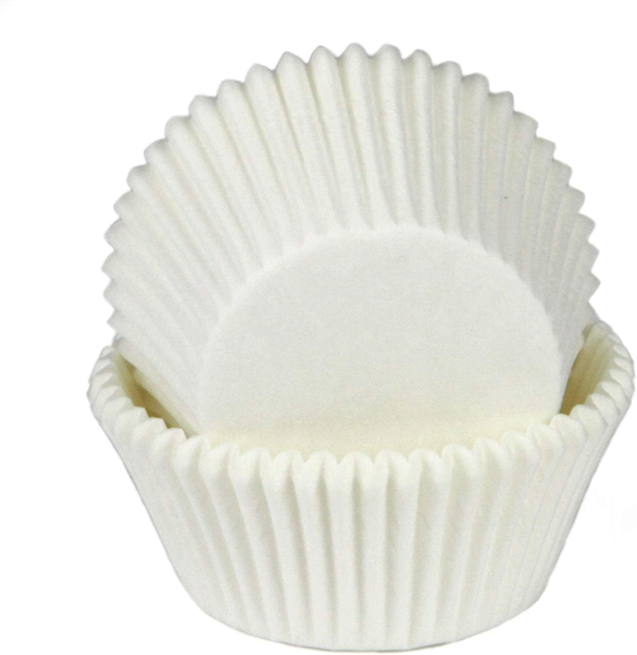 Chef Craft Parchment Paper Cupcake Liners, One Size, White