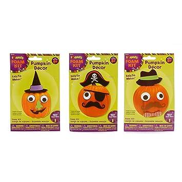 foamies foam halloween pumpkin decoration kits bundle of 3 decorates 3 pumpkins