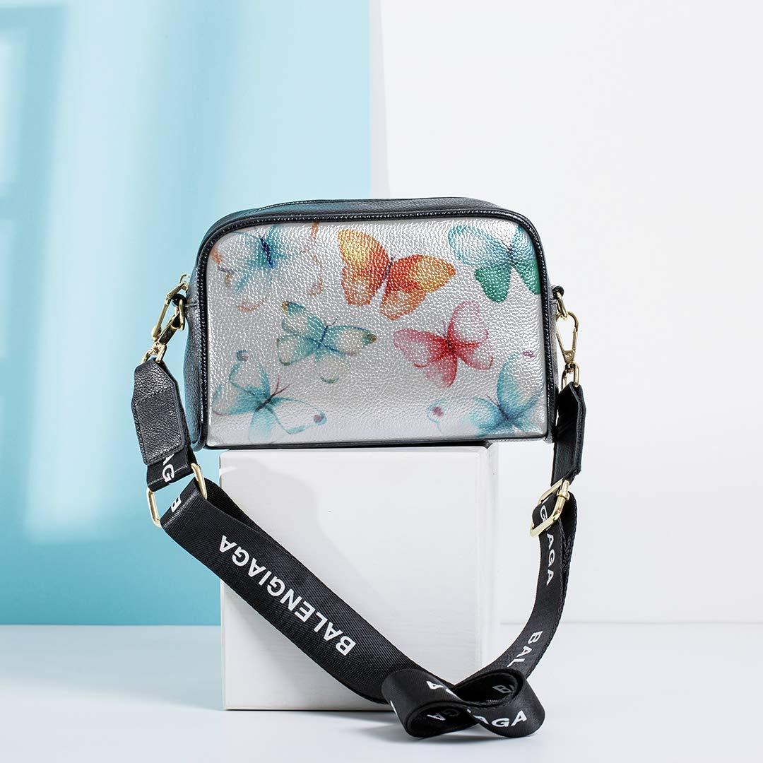 Flying Colorful Butterfly Insect Funny Crossbody Bag Mens Crossbody Messenger Bag With Adjustable Long Strap Work Handbags For Women Crossbody Bag Men Girls Bags Shoulder