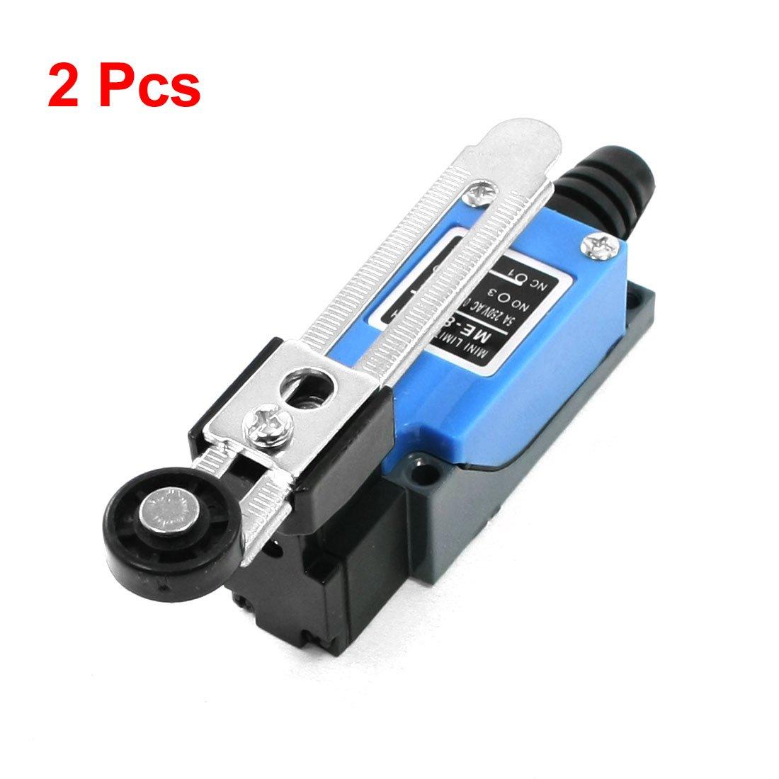 Sourcingmap - Final de carrera de brazo de palanca de rodillo giratorio 2 pcs me-8108 para el plasma cnc mill US-SA-AJD-30912