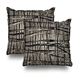 Kutita Decorative Pillows Covers 18 x 18 inch Throw Pillow Covers,Contemporary Abstract Painting Lines Shades Gray Black Beige Cream Pattern Double-Sided Decorative Home Decor Pillowcase Sofa