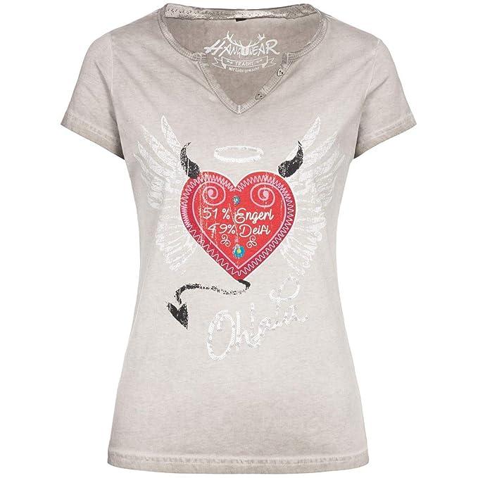 Hangowear Damen Trachten Mode Trachtenshirt Rike in Grau