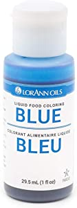 LorAnn Blue Liquid Food Color, 1 Ounce Squeeze Bottle